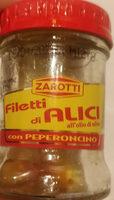 filetti di alici all'olio di oliva con peperoncino - Produit - it