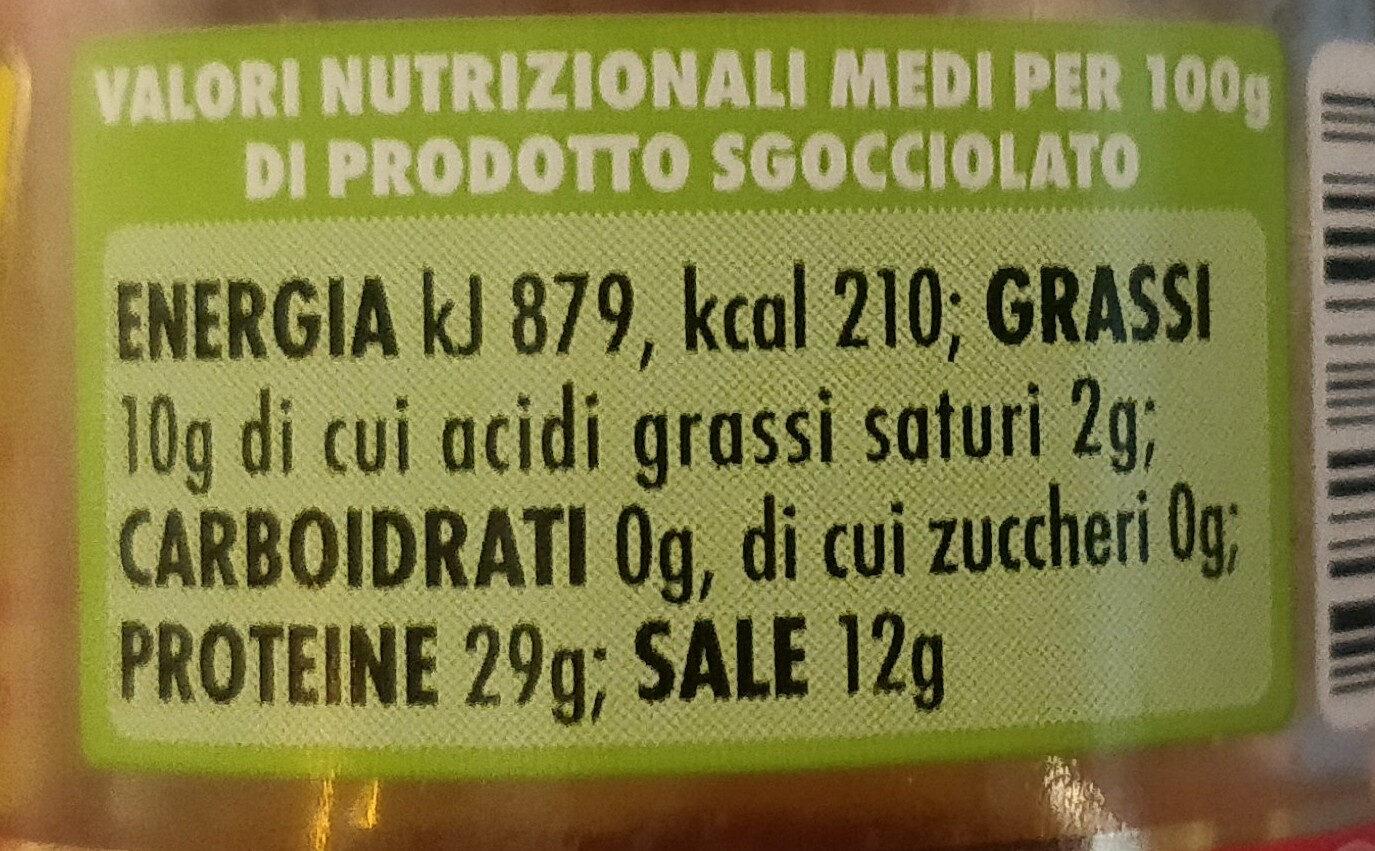 filetti di alici all'olio di oliva con peperoncino - Informations nutritionnelles - it