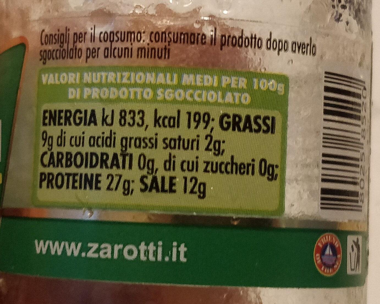 filetti di alici all'olio di oliva - Informations nutritionnelles - it