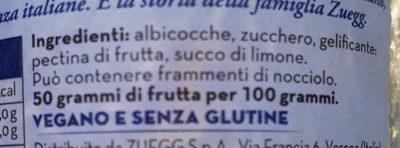 confettura extra di albicocche - Ingredienti - it