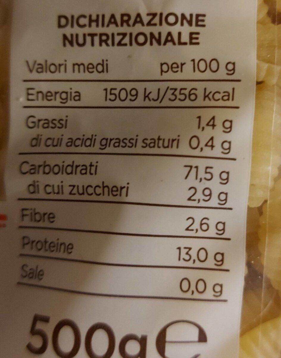 Gnocchi sardi - Nährwertangaben - de
