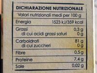 Riso Ribe Parboiled sottovuoto - Valori nutrizionali - it
