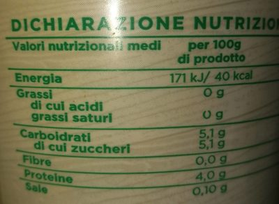 Yogurt bianco magro - Informations nutritionnelles