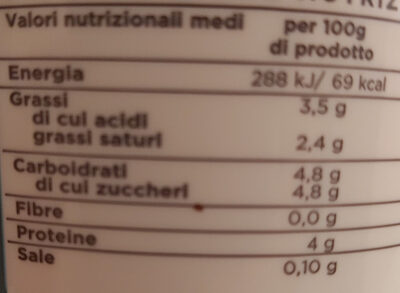 yogurt intero - Informations nutritionnelles - it
