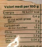 Broccoli surgelati - Valori nutrizionali - it