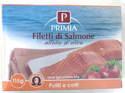 Filetti di salmone all'olio di oliva - Produit