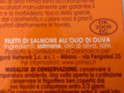 Filetti di salmone all'olio di oliva - Ingrédients