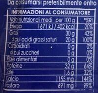 Parmiggiano reggiano dop - Valori nutrizionali - it