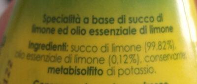 succo di limone - Ingrédients - it