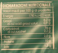 Crackers con riso soffiato - Nutrition facts - fr