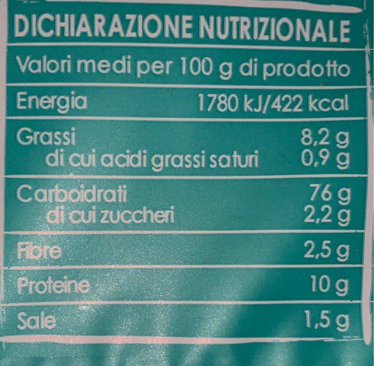 Crackers con riso soffiato - Informations nutritionnelles - fr