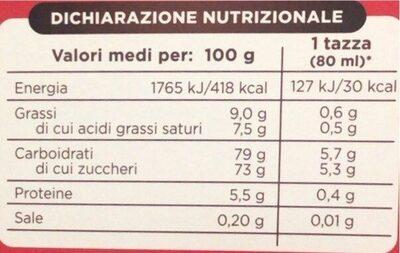Caffè al gingseng - Valori nutrizionali - it