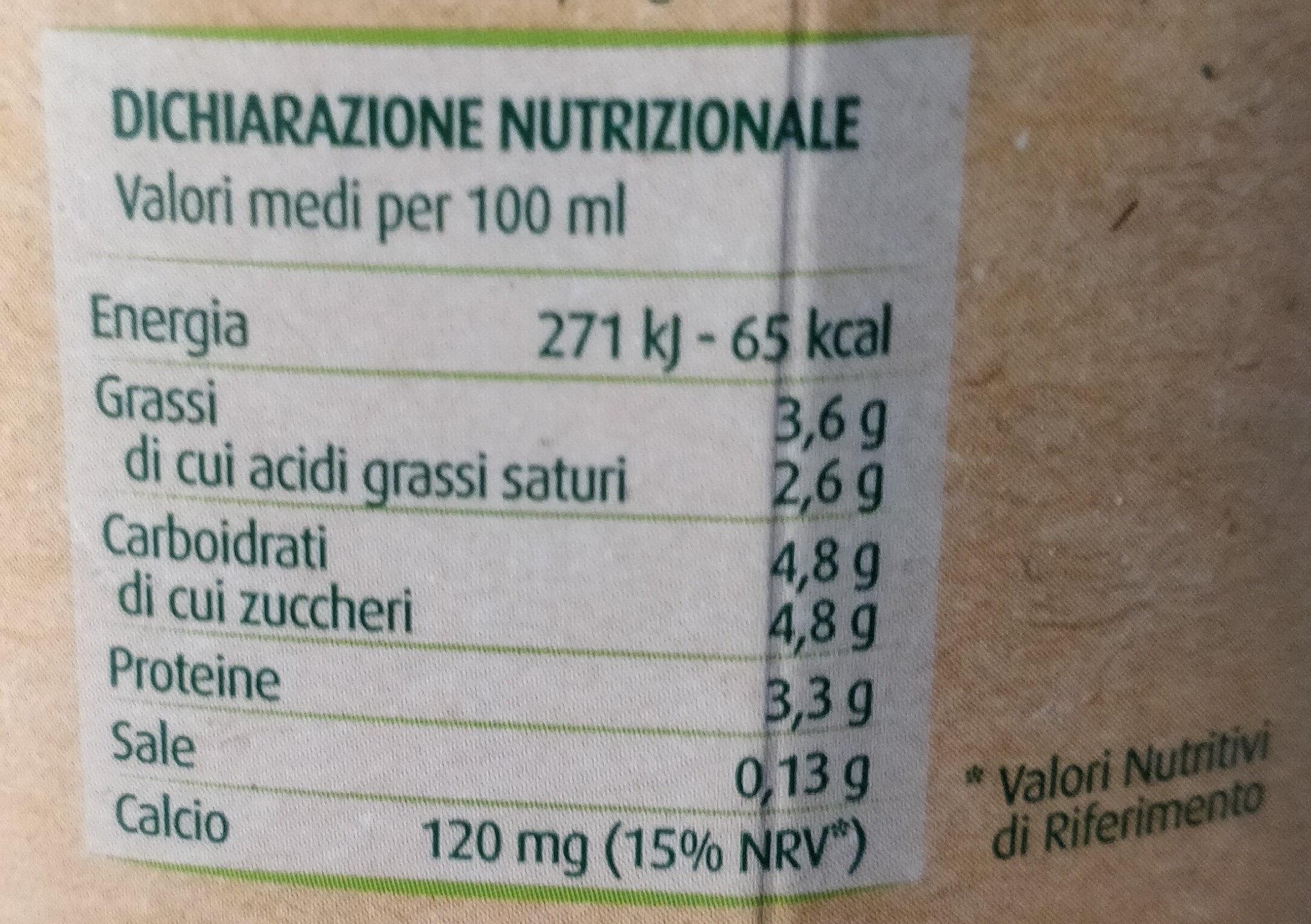 latte microfiltrato intero biologico - Informations nutritionnelles - it