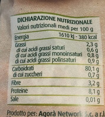 Gallette 5 cereali - Nutrition facts