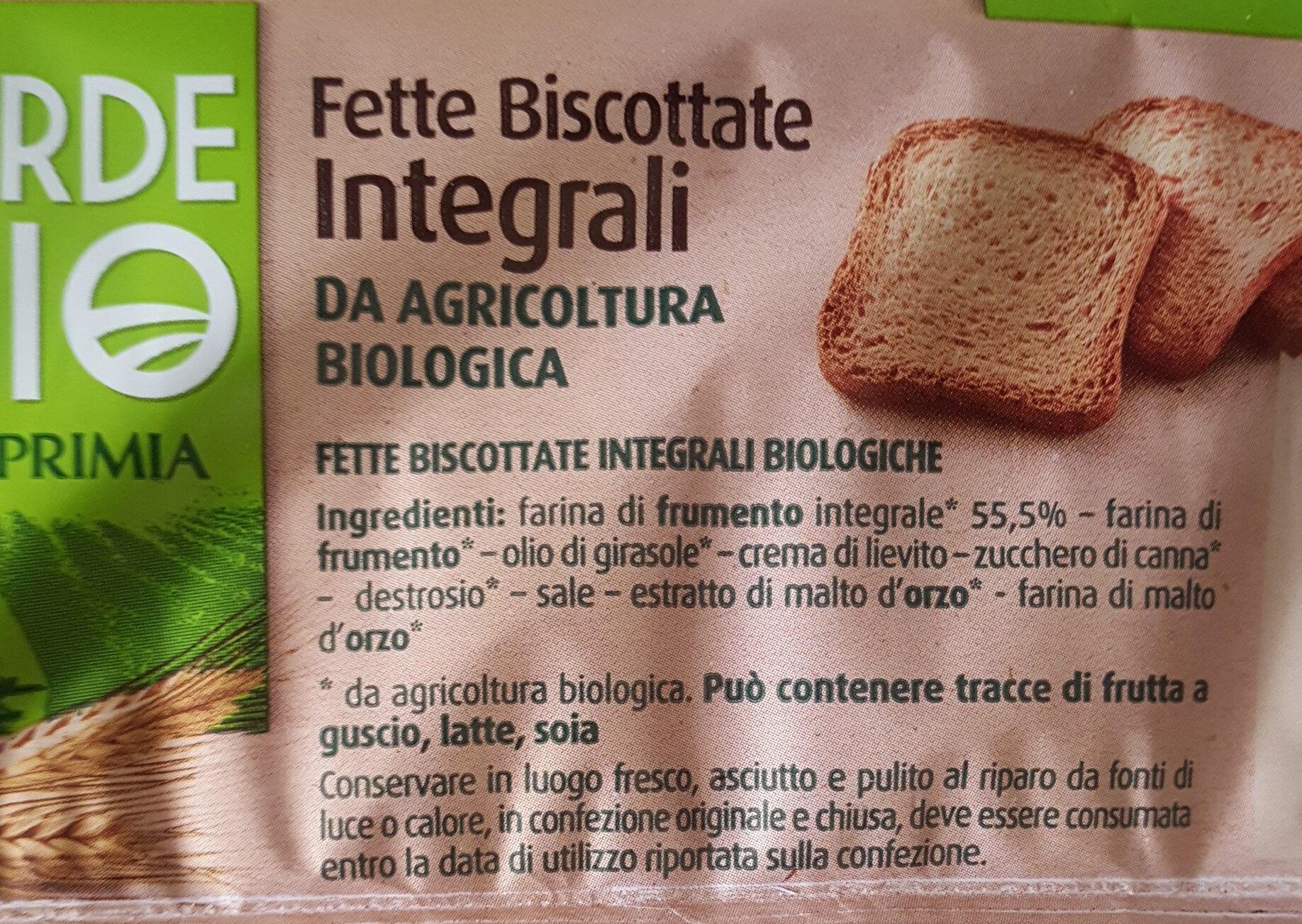 biscottate - Ingredients - fr