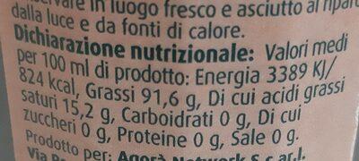 Olio extra vergine di Oliva - Informations nutritionnelles - it