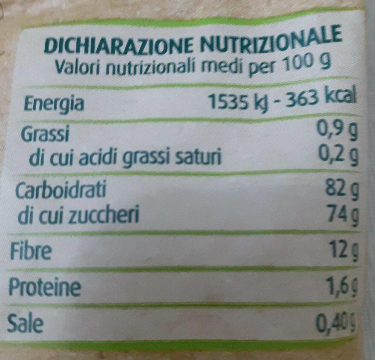 Spicchi di mela senza buccia disidratati - Informazioni nutrizionali - fr