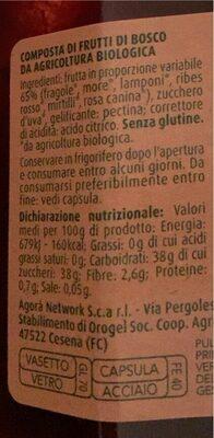 Composta di frutti di bosco - Nutrition facts - it