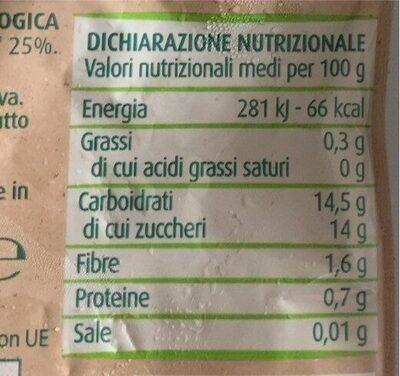 Purea di Mela e Banana - Valori nutrizionali - it