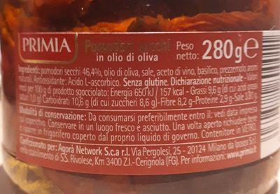 Pomodori secchi in olio di oliva - Ingrédients - fr