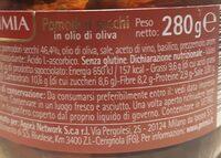 Pomodori secchi in olio di oliva - Informations nutritionnelles - fr
