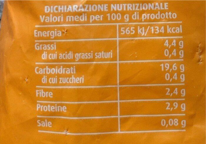 Patatine fritte surgelate - Valori nutrizionali - it