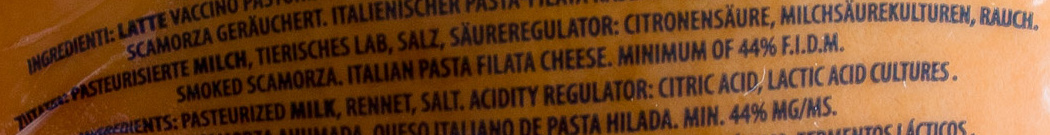 Scamorza Affumicata - Ingrédients - de