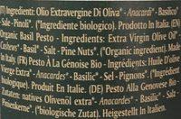 Pesto Alla Genovese - Bio - Ingrédients