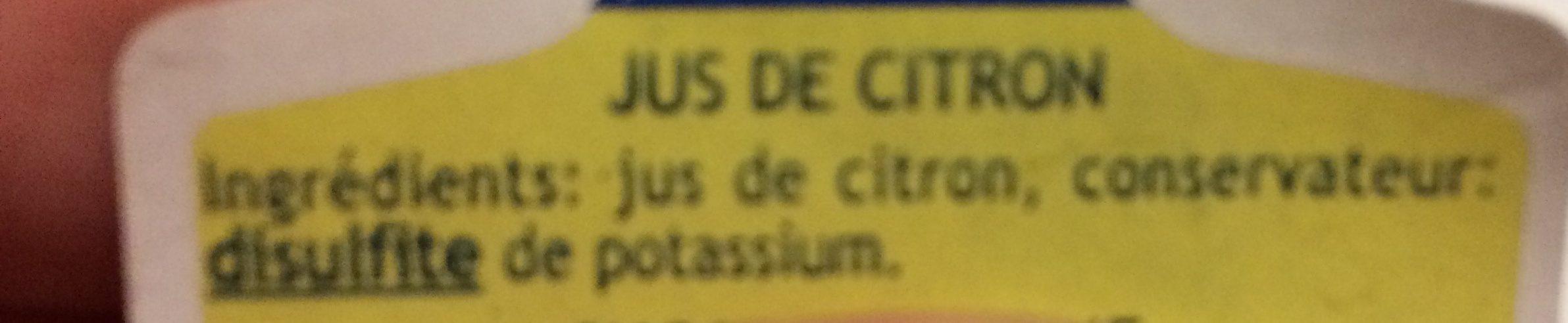 Jus de citron de Sicile - Ingrédients - fr