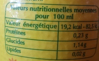 Pulco cuisine - Nutrition facts