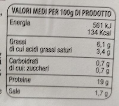 prosciutto cotto Praga qualità oro - Nutrition facts - it
