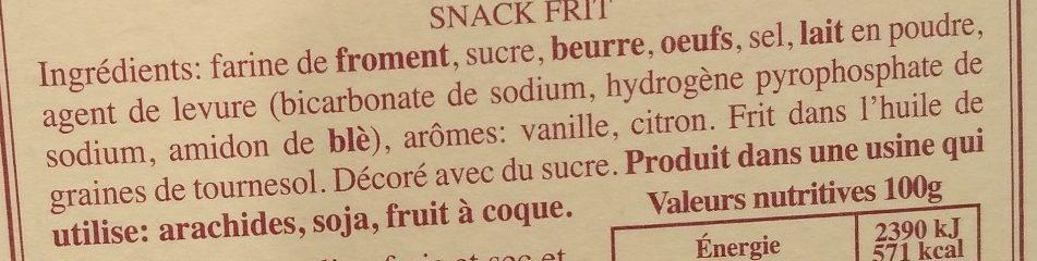 Ricciolines - Ingrediënten - fr