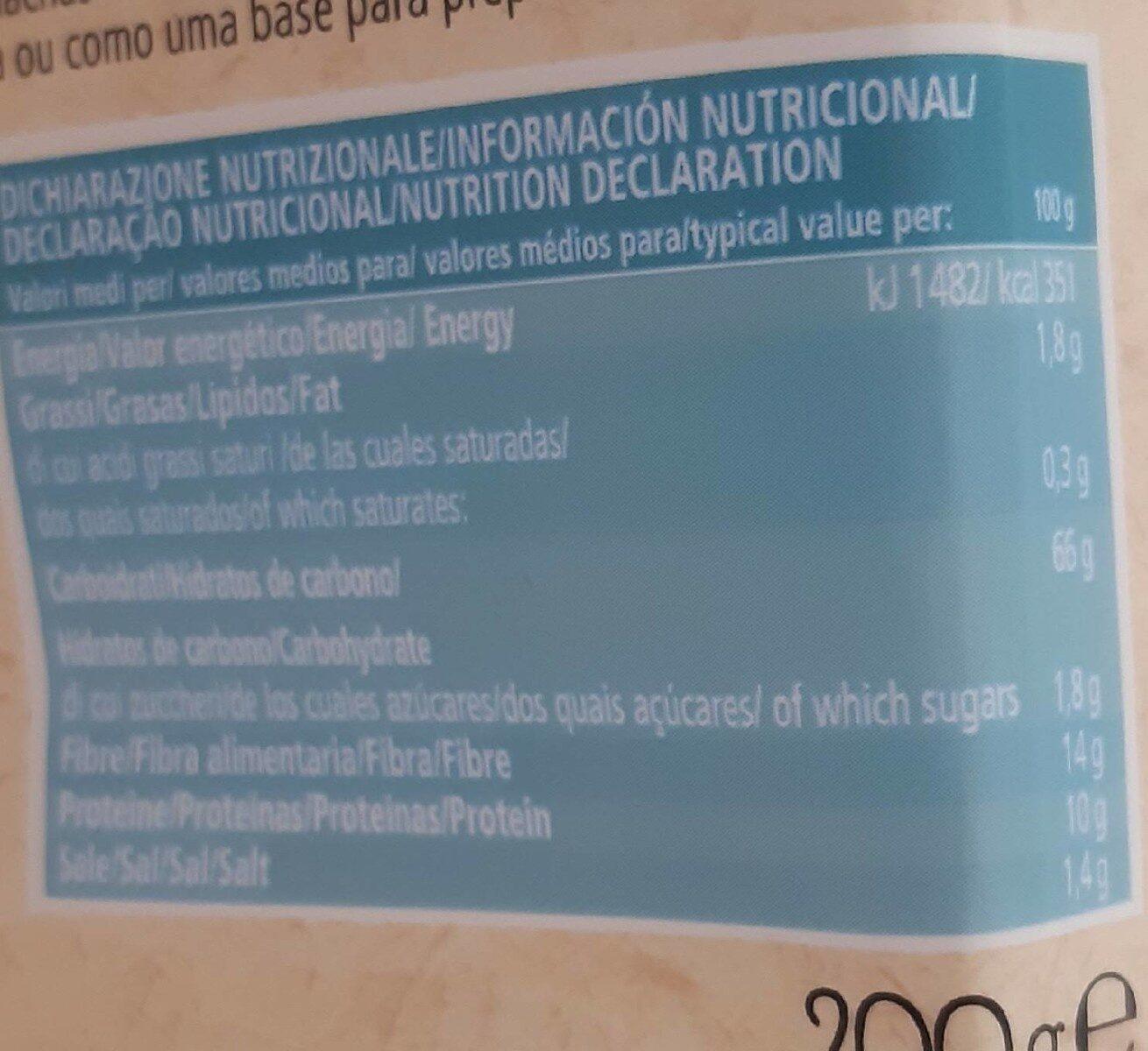 Crispbread integrale di segale - Nutrition facts - fr