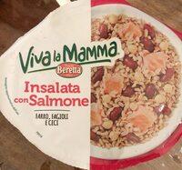 insalata con salmone farro, fagioli e ceci - Produkt - it