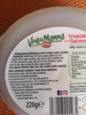 insalata con salmone farro, fagioli e ceci - Zutaten - it