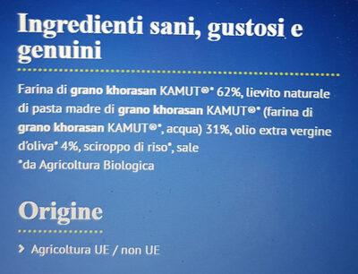 Fette Artigianali di grano Khorasan KAMUT - Ingrédients - it