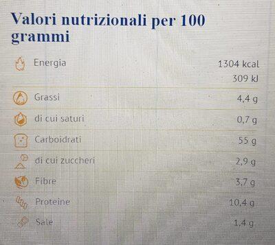 Fette Artigianali di grano Khorasan KAMUT - Informations nutritionnelles - it