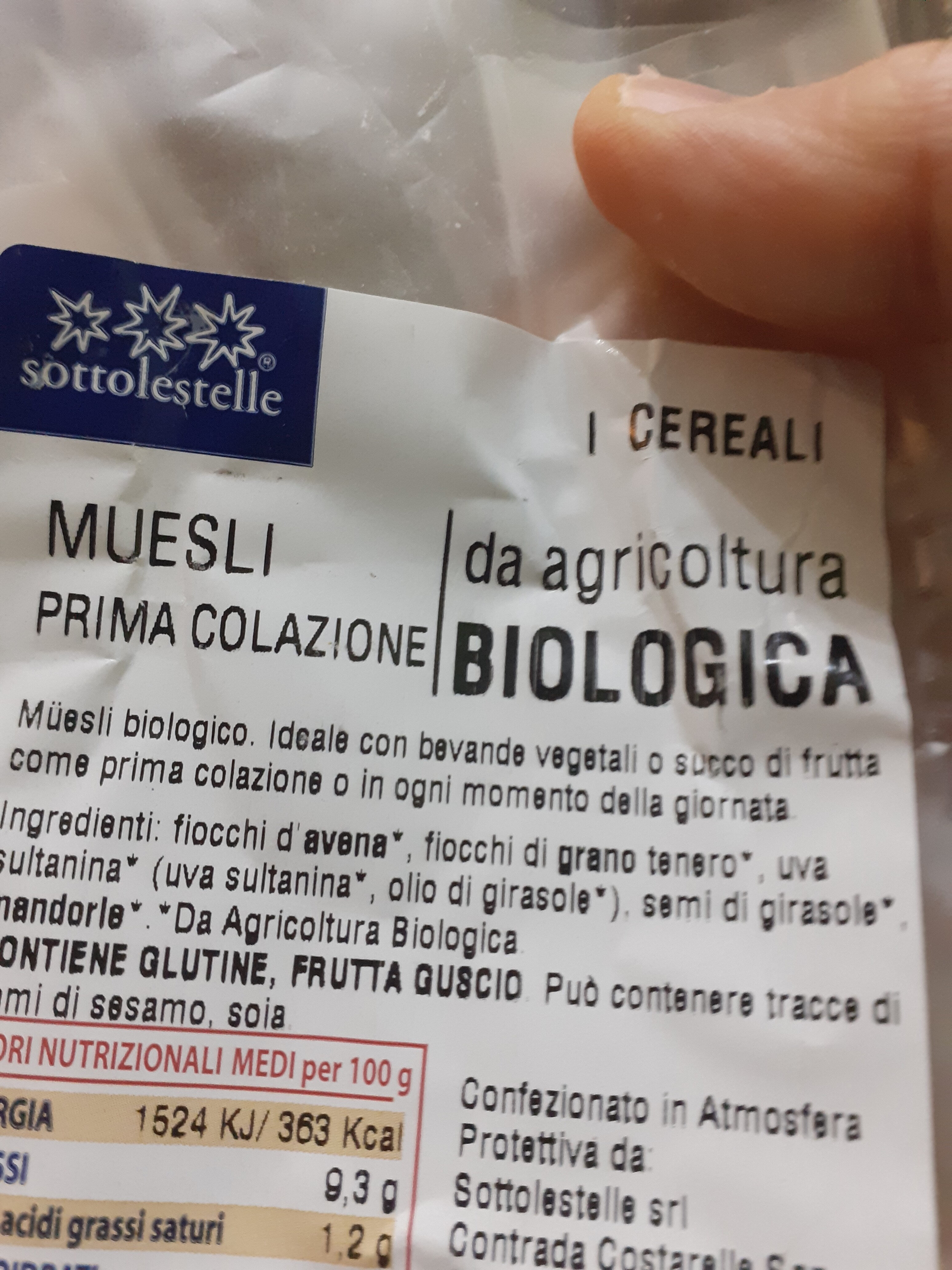 Muesli prima colazione - Ingredients - it
