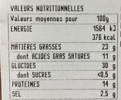 Piada Speck & Fromages - Voedingswaarden - fr