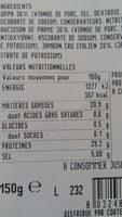 Plateau de charcuterie Italienne CORTE DEL GUSTO - Nutrition facts