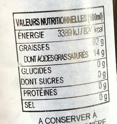 Huile d'olive - Nutrition facts - fr