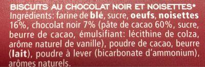Cantuccini cioccolato e nocciole - Ingrediënten - fr