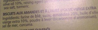 Cantuccini alle mandorle - Ingrediënten - fr