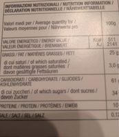 Cantuccini alle mandorle - Voedingswaarden - fr