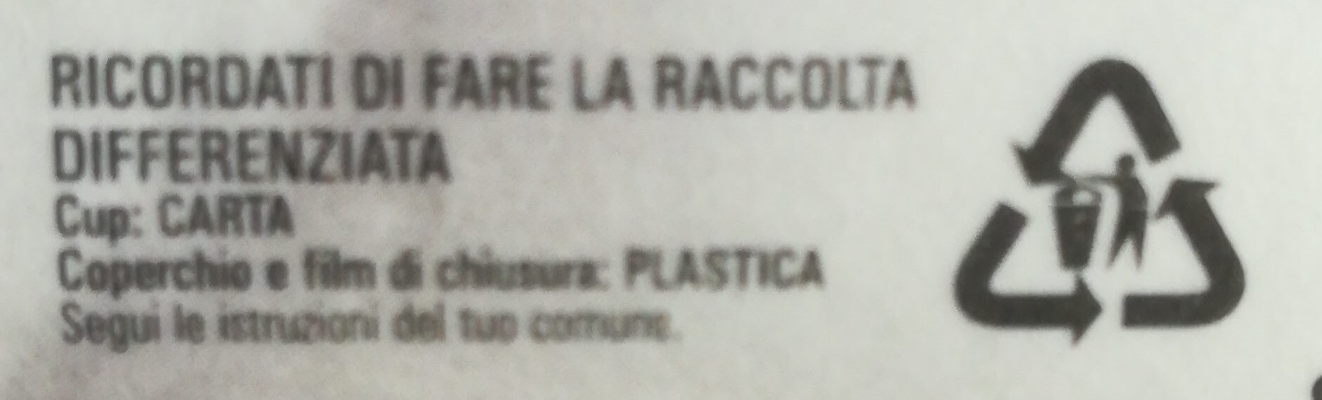 Mozzarella di bufala campana d. O. P - Istruzioni per il riciclaggio e/o informazioni sull'imballaggio - it
