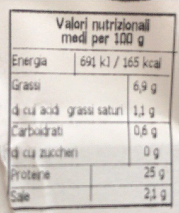 Salmone affumicato a cubetti - Valori nutrizionali - it