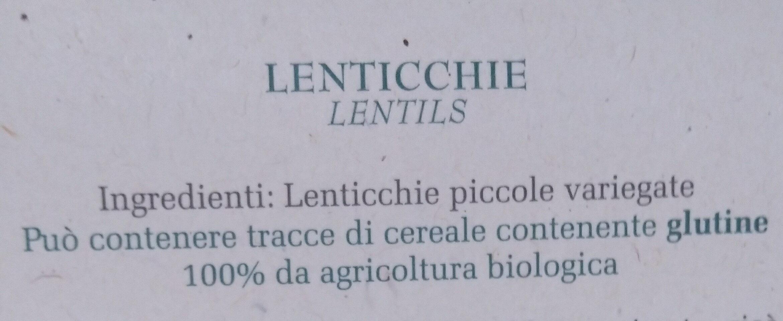Lenticchie - Ingrédients