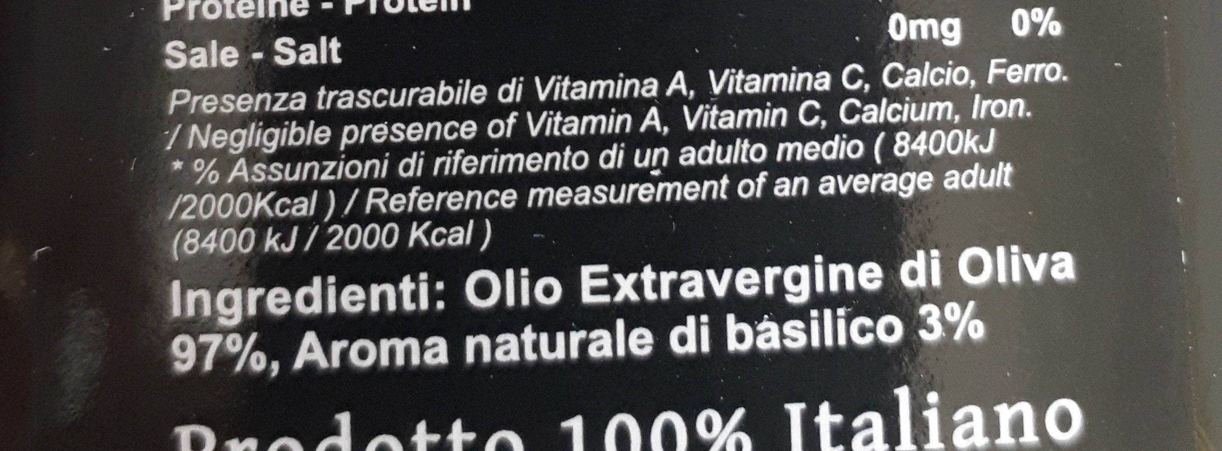 Huile Olive Vierge Extra Basilic - Ingrediënten - fr