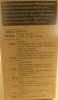 Terra del riso - Informazioni nutrizionali