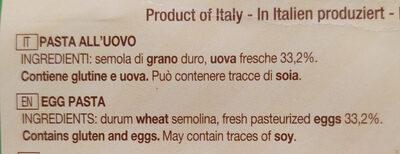 Maltagliati all'uovo - Inhaltsstoffe - it